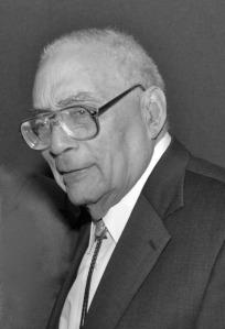 "Simeon Booker, the ""dean of Washington's black press corps."""