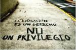 The students used art and public spaces to deliver the message that education is a right and not a privilege.