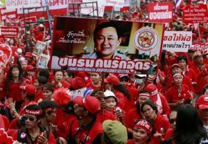 "2010: ""Red Shirt"" supporters of the ousted Thaksin Shinawatra  took over Bangkok in a six-month standoff."