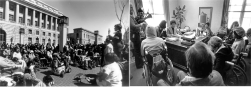 HEW protests in the 1970s.