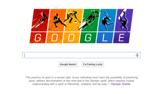 Google doodle highlighting gay rights and the 2014 Olympics