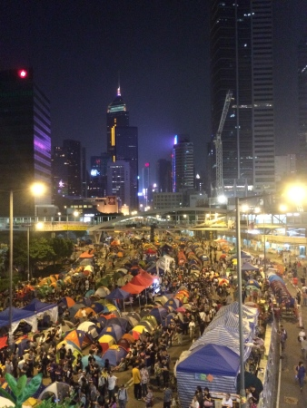 Nov. 1, 2014  - Protesters of the Hong Kong's Occupy Central with Love and Peace Movement